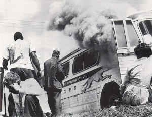 Freedom Riders' Greyhound Bus - Anniston, Alabama, 1961